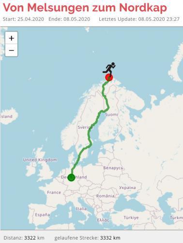 Route Melsungen-Nordkap