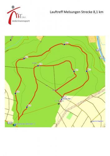 Laufrunde am Siebenstern 8,1 km