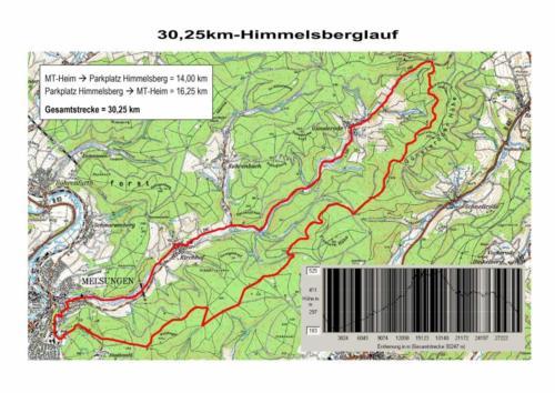 Strecke Himmelsberglauf