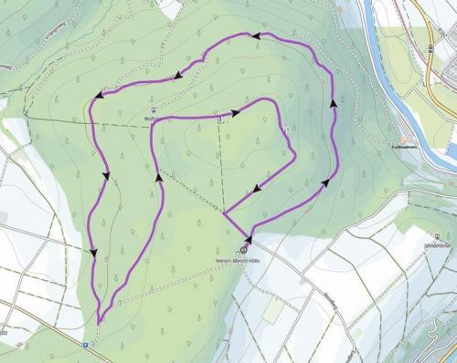 Strecke am Siebenstern 8,1 km